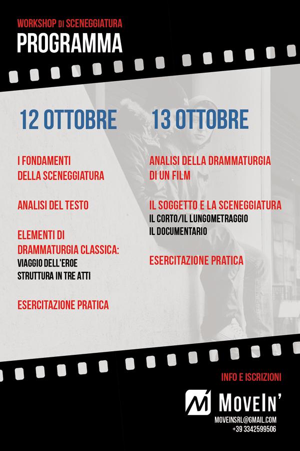 SCRIVERE PER IL CINEMA - Workshop di Sceneggiatura con Claudio Giovannesi