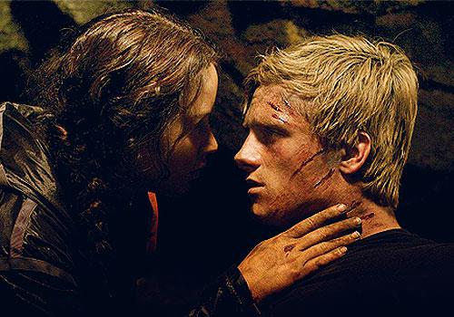 Katniss e Peeta faccia a faccia