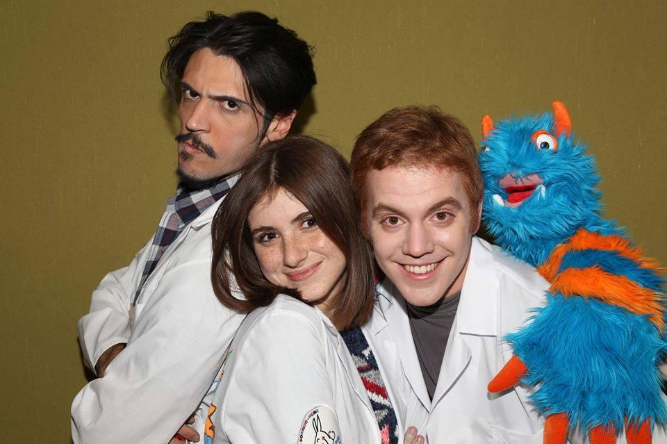 Da sinistra Marco Arata, Elena Misiti, Stefano Cavanna e Mr.T