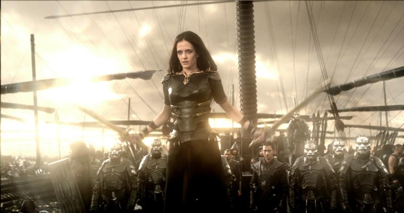Il generale della flotta persiana, Artemisia, si prepara a far guerra