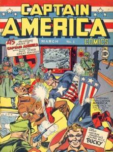 Copertina di Captain America #1 (1941)