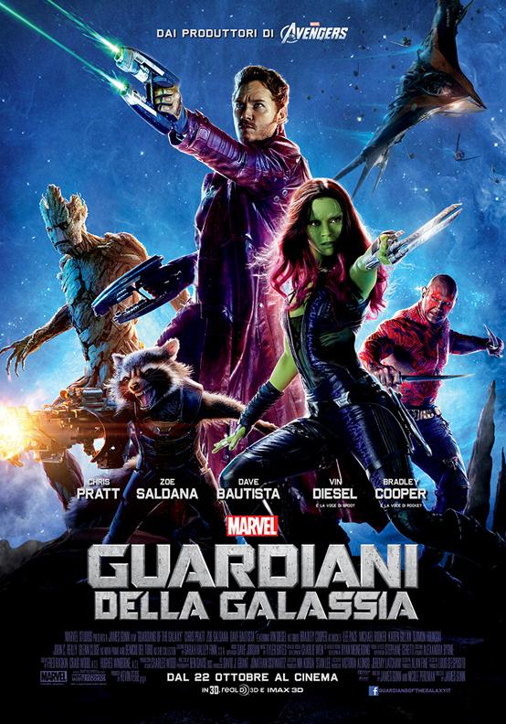 Guardiani della Galassia poster italiano