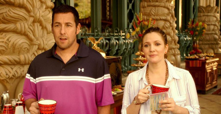 """Adam Sandler e Drew Barrymore sono Jim e Lauren, una coppia """"forzata"""""""