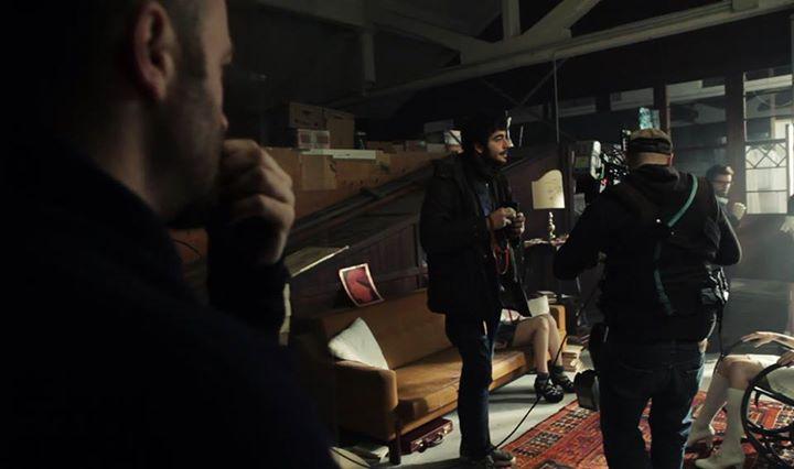 Michele Pastrello sul set di Awakenings