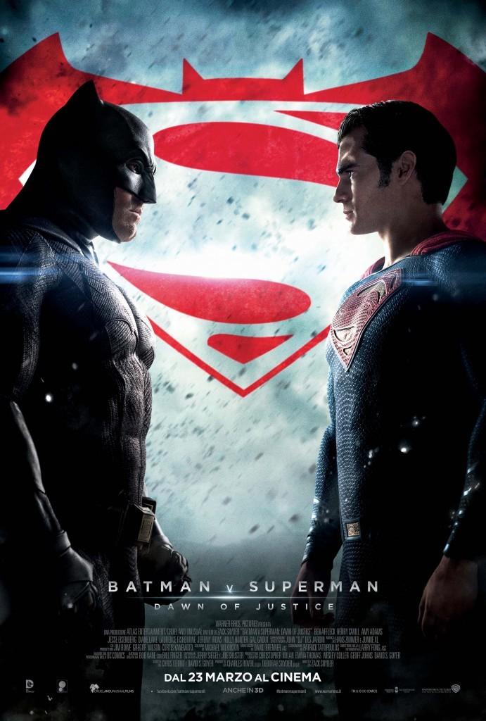 batman v superman poster italiano