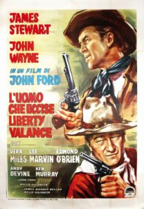 l'uomo che uccise liberty valance - poster